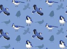Blue Jay Cartoon Seamless Wallpaper Stock Photo