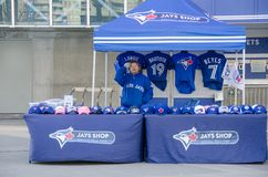 Blue Jays Memorabilia outside the stadium Stock Photos