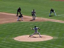 Blue Jays Pitcher Marc Rzepczynski in motion Royalty Free Stock Photo