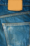 Blue jean. Fragment of blue modern jeans with pocket, can be used as a background Stock Photo
