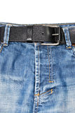 Blue jean. A blue jean and belt close up shot Royalty Free Stock Photo