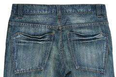 Blue jean pockets isolated  Royalty Free Stock Photography