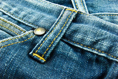 Blue jean. Pocket and belt ears Close Up Royalty Free Stock Photo