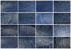 Blue jean background Stock Image