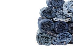 Blue denim jeans texture isolated. Blue jean background .Blue denim jeans texture. Jeans background. Blue torn denim jeans texture.classic nature tone jean.denim stock photos