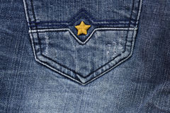 Blue jean background Stock Photos