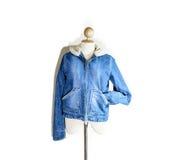 Blue jean coat Stock Image