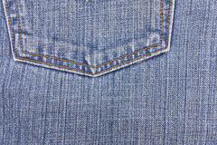 Blue jean and crotch texture. Stock Image