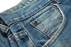 Blue Jean Denim Texture Background. Royalty Free Stock Images