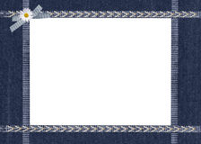 Blue Jean frame Stock Photos