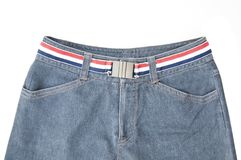 Blue jean in front view Royalty Free Stock Image