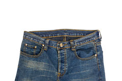 Blue jean isolated Royalty Free Stock Images
