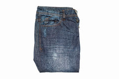 Blue jean isolated on white background. Royalty Free Stock Photography