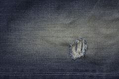 Blue jean lacking. Old style Stock Photos