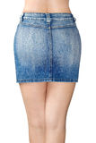 Blue jean miniskirt Royalty Free Stock Photo