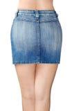 Blue jean miniskirt Royalty Free Stock Photo
