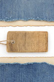 Blue jean and old paper Royalty Free Stock Images