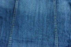 Blue jean pattern with stitch line for texture and background. Royalty Free Stock Photo