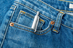 Blue jean and pen Royalty Free Stock Image