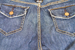 Blue jean pocket Royalty Free Stock Photography