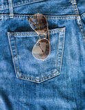 Blue jean pocket Royalty Free Stock Images