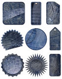 Blue jean Premium Quality and Guarantee Labels Stock Photos