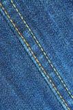 Blue jean seams Royalty Free Stock Photos