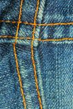 Blue jean seams Stock Photo