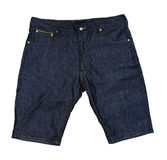 Blue jean short pants on isolated background. Stock Images