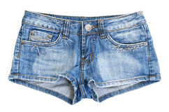 Blue jean shorts Stock Photo