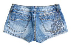 Blue jean shorts Stock Images
