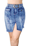 Blue jean skirt. Is the front view Stock Image