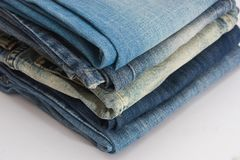 Blue jean stack Royalty Free Stock Photo