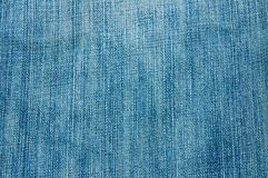 Blue jean texture Stock Photography