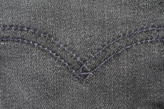 Blue jean texture with stitches Stock Photo