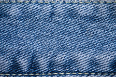 Blue jean textured background Royalty Free Stock Photos