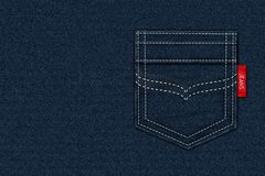 Texture Blue Jeans Label Background Royalty Free Stock Photo