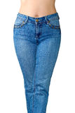 Blue jeans. Is the front view Royalty Free Stock Images