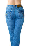 Blue jeans. Is the rear view Royalty Free Stock Photo