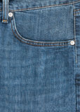 Blue jeans. Close up up of blue jeans  pocket Stock Photos