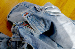 Blue jeans. Old jeans royalty free stock photography