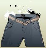 Blue jeans. Pocket - vector illustration Royalty Free Stock Image