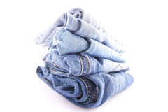 Blue jeans. On whithe background Stock Photography