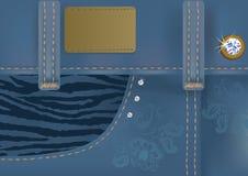 Blue jeans affascinanti con il contrassegno Immagini Stock