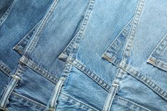 Blue jeans as background stock image