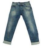Blue Jeans auf Weiß Lizenzfreie Stockbilder