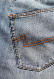 Blue jeans back Stock Images