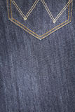 Blue jeans, back pocket Stock Photo