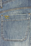 Blue jeans back pocket Royalty Free Stock Image