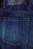 Blue jeans back pocket Stock Image